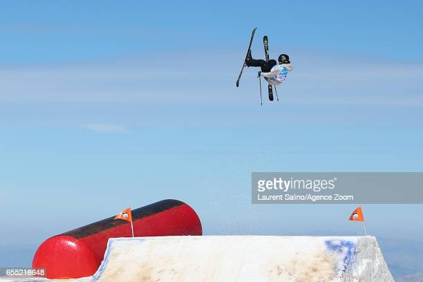 James Woods of Great Britain wins the bronze medal during the FIS Freestyle Ski Snowboard World Championships Slopestyle on March 19 2017 in Sierra...