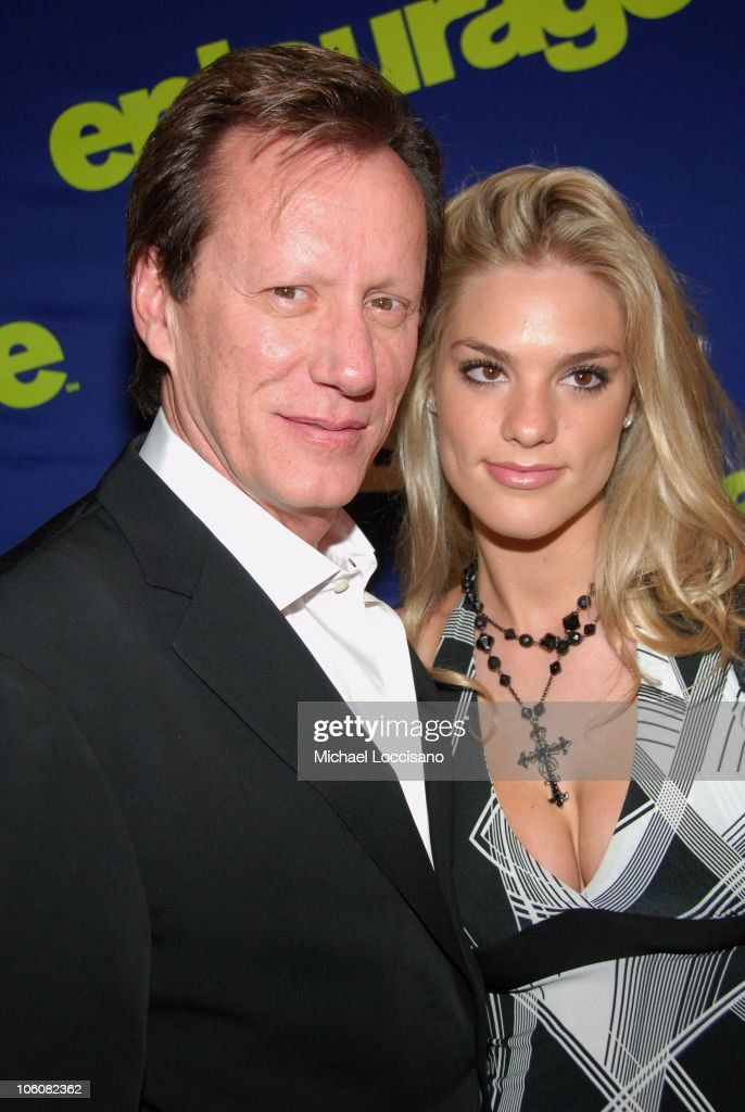 James Woods with his girlfriend Ashley Madison during 'Entourage' Season Three New York Premiere Arrivals at Skirball Center for the Performing Arts...