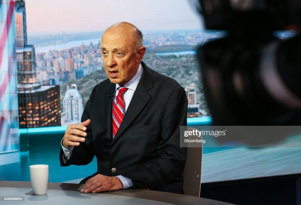 James Woolsey, former director of the Central Intelligence Agency (CIA), speaks during a Bloomberg Television interview in New York, U.S., on Thursday, Sept. 14, 2017. Woolsey discussed the Trump Administration's strategy in dealing with threats from North Korea. Photographer: Christopher Goodney/Bloomberg via Getty Images