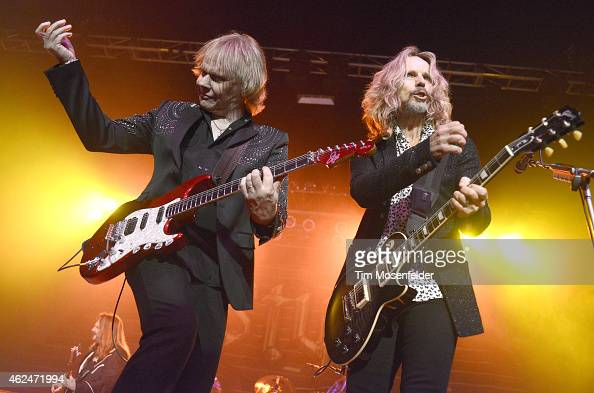 James Young and Tommy Shaw of Styx perform at the City National Civic on January 28 2015 in San Jose California