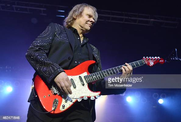 James Young of Styx performs at the City National Civic on January 28 2015 in San Jose California