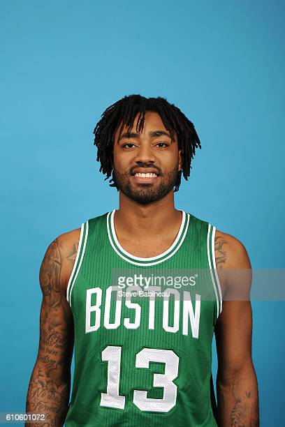 James Young of the Boston Celtics poses for a head shot during the 20162017 Boston Celtics Media Day on September 26 2016 at the TD Garden in Boston...
