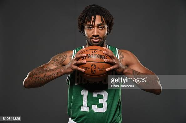 James Young of the Boston Celtics poses for a portrait during 20162017 Boston Celtics Media Day at TD Garden on September 26 2016 in Boston...