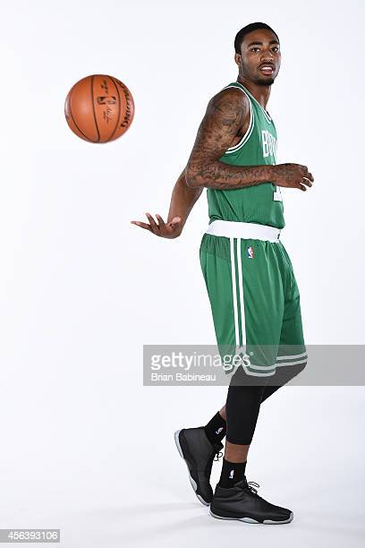 James Young of the Boston Celtics poses for a portrait on September 29 2014 at the Boston Cetlics Training Center at Healthpoint in Waltham...