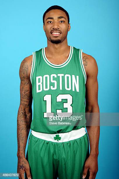 James Young of the Boston Celtics poses for a portrait on September 29 2014 at the the Boston Cetlics Training Center at Healthpoint in Waltham...