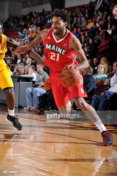 James Young of the Maine Red Claws drives to the basket against the Canton Charge at the Canton Memorial Civic Center on November 14 2015 in Canton...