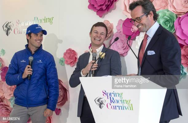 JamesCummings Ben Hayes and Hamish McLachlan at Greenfields on September 01 2017 in Albert Park Australia
