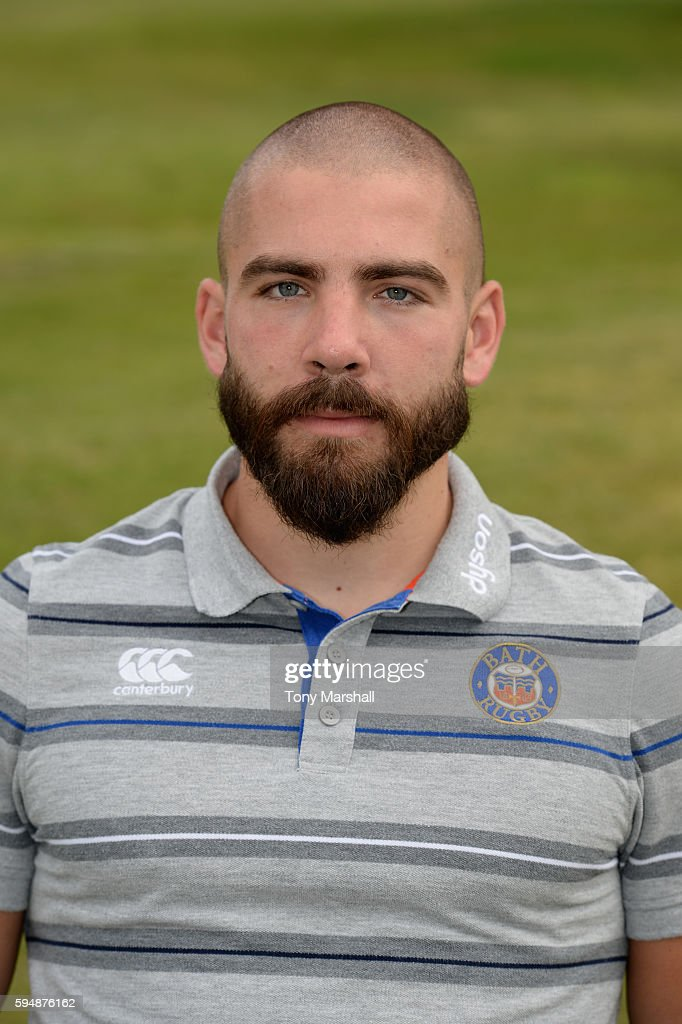 Jameson Mola First Team Strength and Conditioning Coach poses for a portrait during the Bath Rugby squad photo call for the 20162017 Aviva...