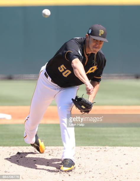 Jameson Taillon of the Pittsburgh Pirates pitches during the third inning of the Spring Training Game against the Baltimore Orioles on March 15 2017...