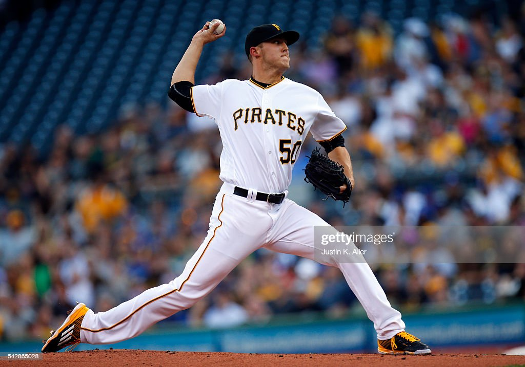 Jameson Taillon #50 of the Pittsburgh Pirates pitches in the first inning during the game against the Los Angeles Dodgers at PNC Park on June 24, 2016 in Pittsburgh, Pennsylvania.