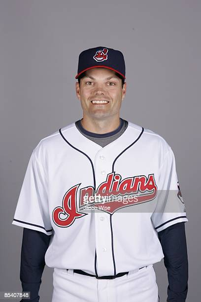 Jamey Carroll of the Cleveland Indians poses during Photo Day on Saturday February 21 2009 at Goodyear Ballpark in Goodyear Arizona