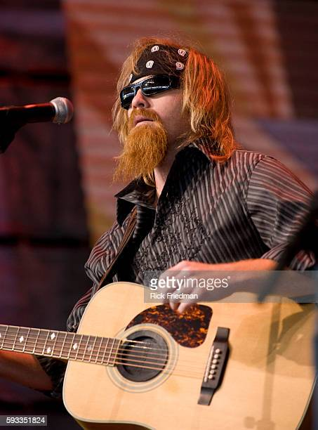 Jamey Johnson performs at the Farm Aid concert at the Comcast Center in Mansfield