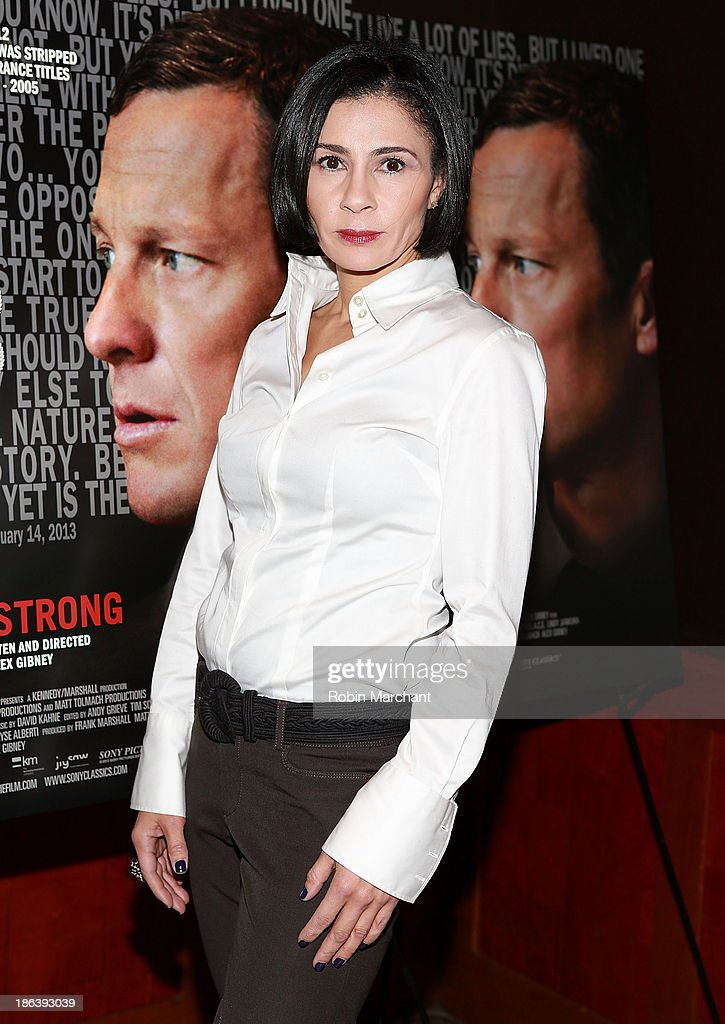 Jami Floyd attends 'The Armstrong Lie' New York premiere at Tribeca Grand Hotel on October 30, 2013 in New York City.