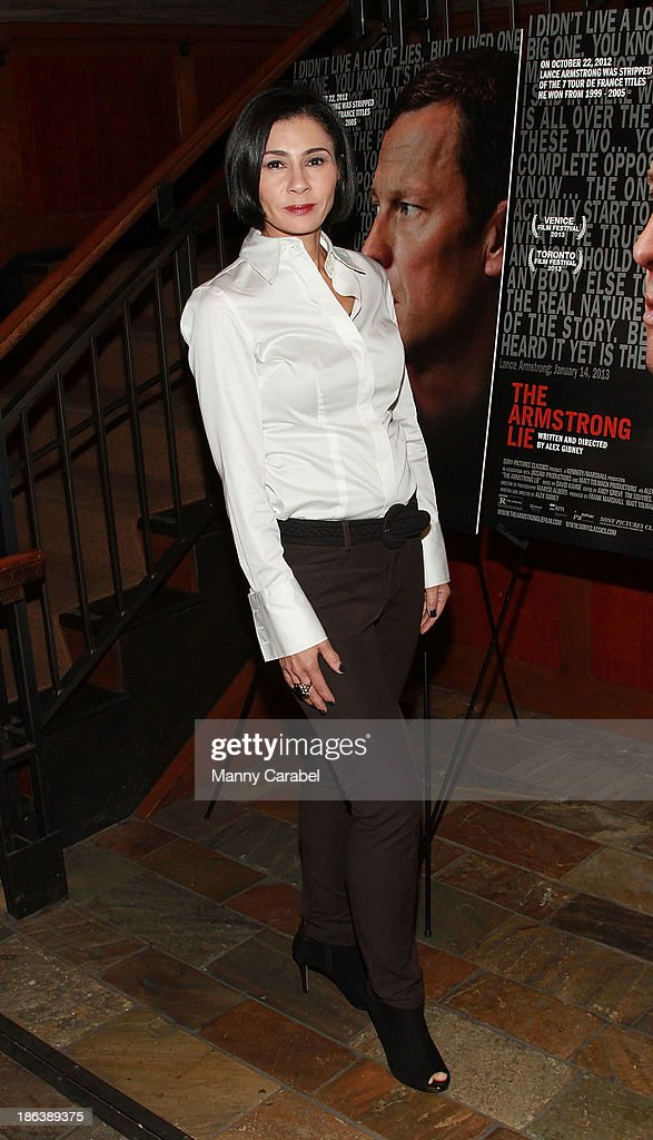Jami Floyd attends 'The Armstrong Lie' premiere at the Tribeca Grand Hotel on October 30, 2013 in New York City.