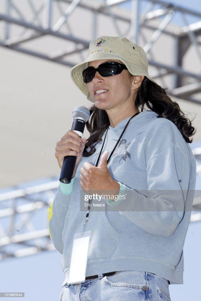 Jami Gertz during The Painted Turtle Summer Camp Dedication at Lake Hughes in Lake Hughes CA United States