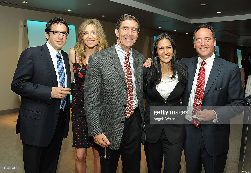 Jamie Afifi Sarah Chalke Woody Woods Leslie GlibertLurie and Cliff GilbertLuriee attend the 9th Annual Bogart Pediatric Cancer Research Program's...