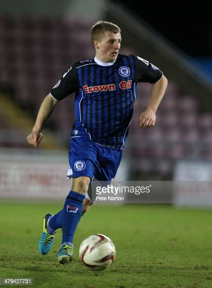 Jamie Allen of Rochdale in action during the Sky Bet league Two match between Northampton Town and Rochdale at Sixfields Stadium on March 18 2014 in...