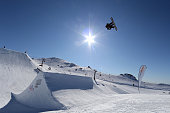 Jamie Anderson of the United States competes in the FIS Snowboard World Cup Slopestyle Finals during the Winter Games NZ at Cardrona Alpine Resort on...
