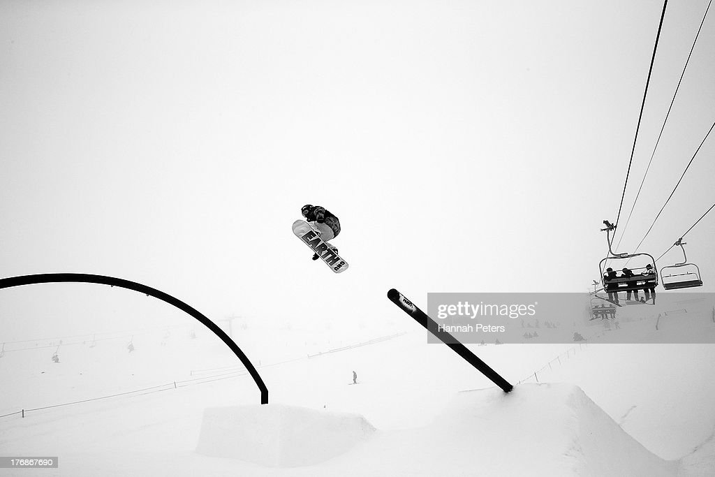 Jamie Anderson of the USA competes during the FIS Snowboard Slopestyle World Cup Finals during day five of the Winter Games NZ at Cardrona Alpine Resort on August 19, 2013 in Wanaka, New Zealand.