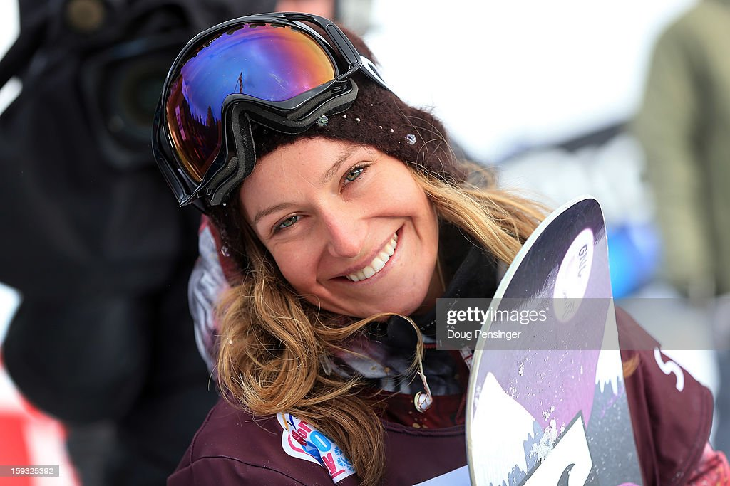 Jamie Anderson of the USA looks on as she won the FIS Snowboard Slope Style World Cup at the US Grand Prix on January 11, 2013 in Copper Mountain, Colorado.
