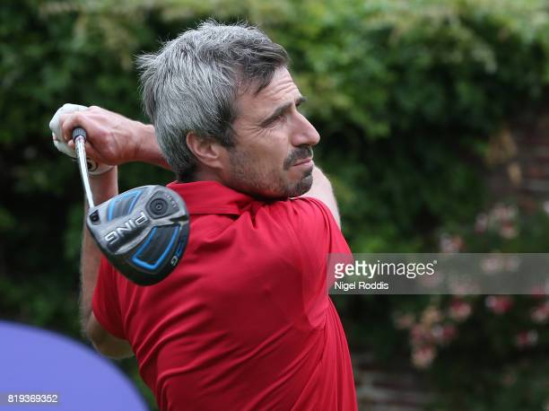 Jamie Ashworth of American Golf during the Golfbreakscom PGA Fourball Championship North Qualifier at Woodsome Hall Golf Course on July 20 2017 in...