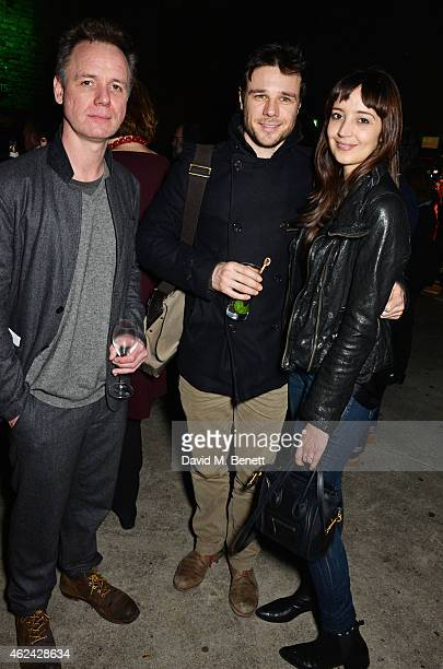 Jamie Ballard Rupert Evans and guest attend an after party following the Gala Performance of 'The Ruling Class' at The Bankside Vaults on January 28...
