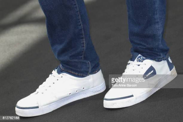 Jamie Bamber Shoe detail attends 'Fearless' photocall on June 19 2017 at the Grimaldi Forum in MonteCarlo Monaco