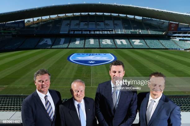 Jamie Barkley CEO of the Sydney Cricket Ground Trust Tony Shepherd Chairman of the Sydney Cricket Ground Trust Scott Barlow Sydney FC Chairman and...