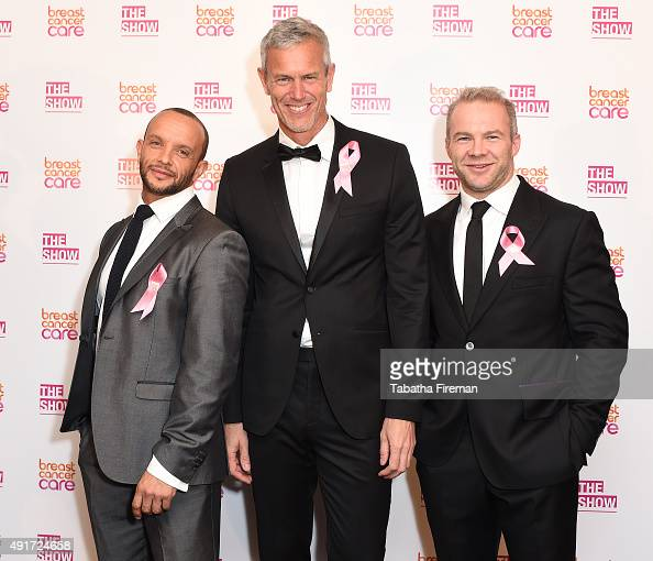 Jamie Baulch Mark Foster and Olly Phillips attend Breast Cancer Care's London fashion show at Grosvenor House Hotel to launch Breast Cancer Awareness...