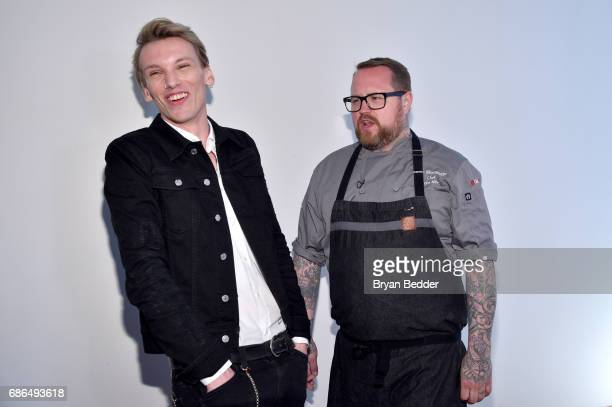 Jamie Beamish and Chef Jamie Bissonnette attend TNT's Will Dinner By Toro's Chef Jamie Bissonette presented by TNT'S Supper Club at West Edge on May...