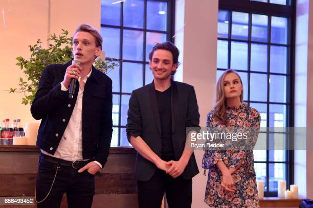 Jamie Beamish Laurie Davidson and Olivia DeJonge attends TNT's Will Dinner By Toro's Chef Jamie Bissonette presented by TNT'S Supper Club at West...