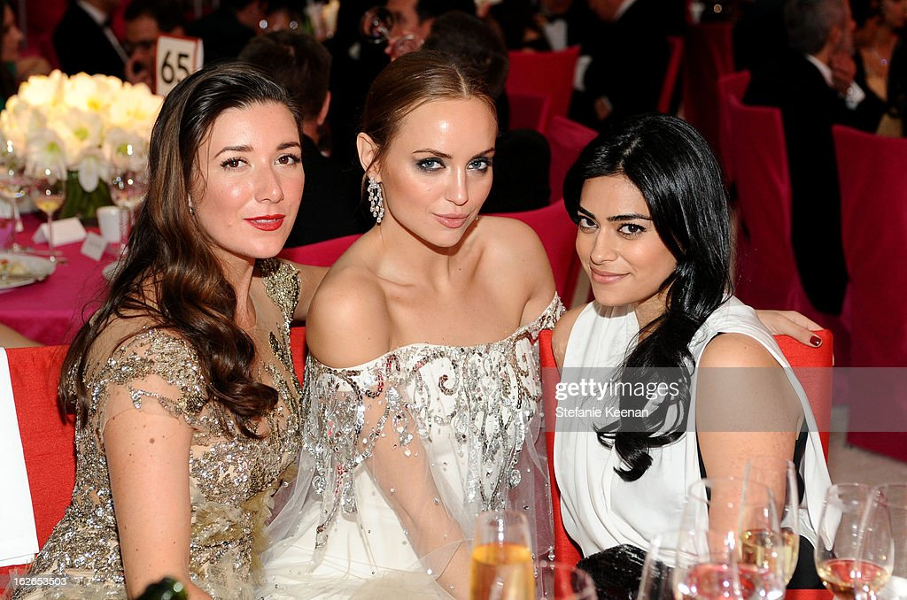 Jamie Beck, Kelly Framel and Prerna Balani attend Chopard At 21st Annual Elton John AIDS Foundation Academy Awards Viewing Party at West Hollywood Park on February 24, 2013 in West Hollywood, California.
