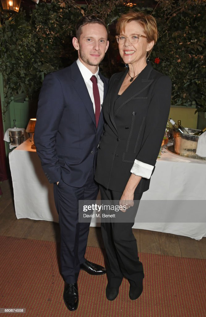 Jamie Bell (L) and Annette Bening attend the PORTER & Lionsgate UK after party for 'Film Stars Don't Die In Liverpool' at Mark's Club on October 12, 2017 in London, England.