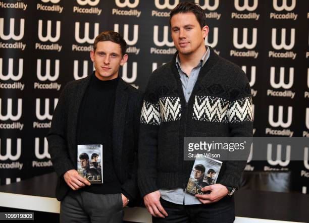 Jamie Bell and Channing Tatum attend book signing for The Eagle of which they star in the film adaptation at Waterstone's Piccadilly on March 10 2011...