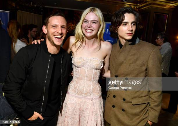 Jamie Bell and Elle Fanning and Timothee Chalamet attend The Hollywood Foreign Press Association and InStyle's annual celebrations of the 2017...