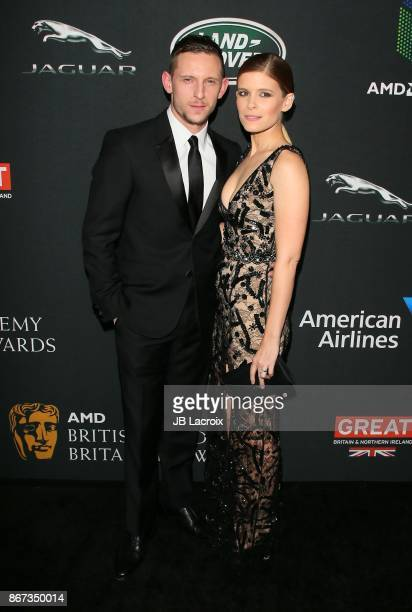 Jamie Bell and Kate Mara attend the 2017 AMD British Academy Britannia Awards presented by Jaguar Land Rover and American Airlines on October 28 2017...