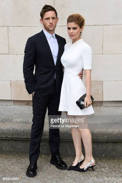 Jamie Bell and Kate Mara attend the Dior Homme Menswear Spring/Summer 2018 show as part of Paris Fashion Week on June 24 2017 in Paris France