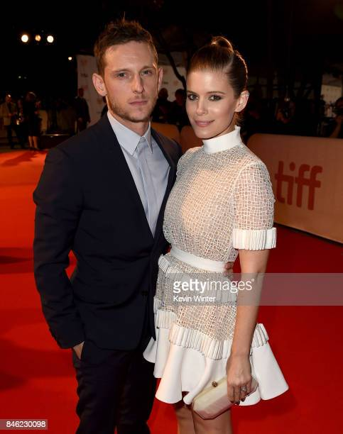 Jamie Bell and Kate Mara attend the 'Film Stars Don't Die in Liverpool' premiere during the 2017 Toronto International Film Festival at Roy Thomson...
