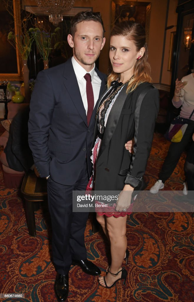 Jamie Bell (L) and Kate Mara attend the PORTER & Lionsgate UK after party for 'Film Stars Don't Die In Liverpool' at Mark's Club on October 12, 2017 in London, England.