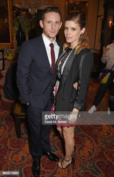 Jamie Bell and Kate Mara attend the PORTER Lionsgate UK after party for 'Film Stars Don't Die In Liverpool' at Mark's Club on October 12 2017 in...