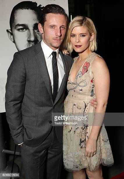 Jamie Bell and Kate Mara attend the Premiere Of Lionsgate Premiere's 'Man Down' at ArcLight Hollywood on November 30 2016 in Hollywood California