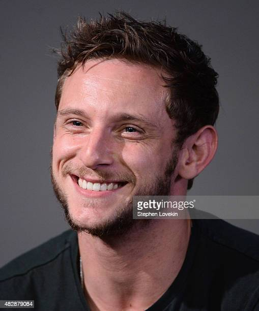 Jamie Bell attends the Apple Store Soho Presents Meet the Actors Miles Teller Kate Mara Michael B Jordan and Jamie Bell 'Fantastic Four' at Apple...