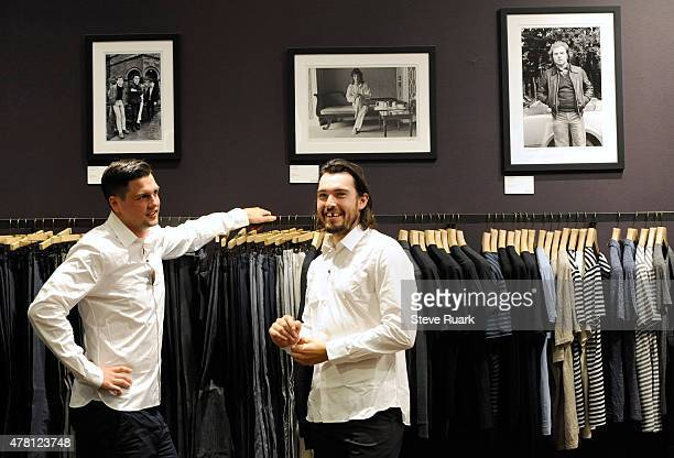 Jamie Benn of the Dallas Stars and Drew Doughty of the Los Angeles Kings shop at the John Varvatos store at The Forum Shops at Caesars for suits...