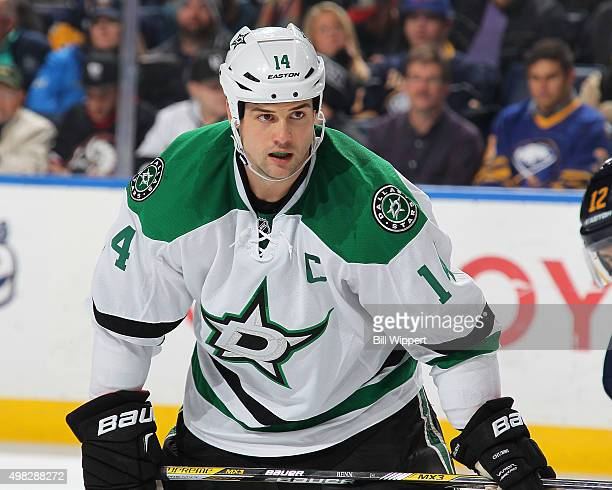 Jamie Benn of the Dallas Stars skates against the Buffalo Sabres during an NHL game on November 17 2015 at the First Niagara Center in Buffalo New...