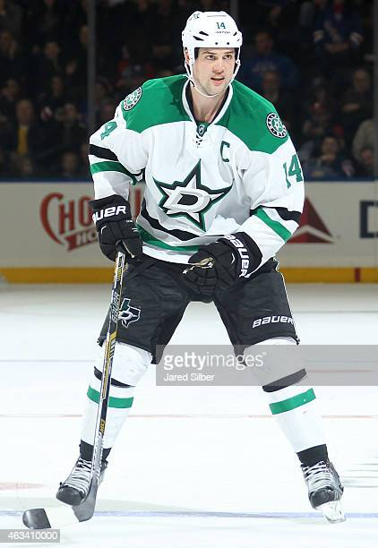 Jamie Benn of the Dallas Stars skates against the New York Rangers at Madison Square Garden on February 8 2015 in New York City The Dallas Stars won...