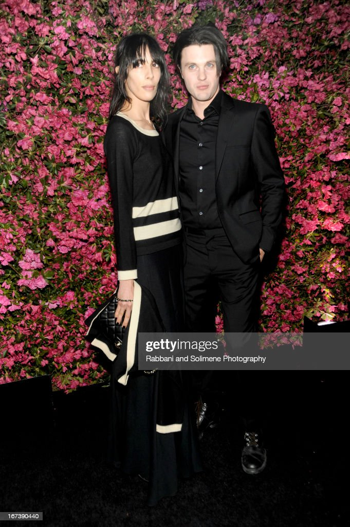 Jamie Bochert and <a gi-track='captionPersonalityLinkClicked' href=/galleries/search?phrase=Michael+Pitt&family=editorial&specificpeople=207164 ng-click='$event.stopPropagation()'>Michael Pitt</a> attends 8th Annual Chanel Artists Dinner during the 2013 Tribeca Film Festival at Odeon on April 24, 2013 in New York City.