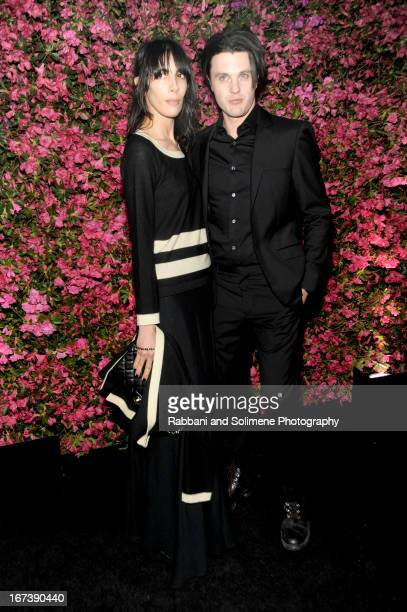 Jamie Bochert and Michael Pitt attends 8th Annual Chanel Artists Dinner during the 2013 Tribeca Film Festival at Odeon on April 24 2013 in New York...