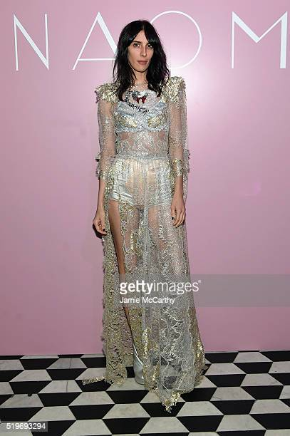 Jamie Bochert attends as Marc Jacobs Benedikt Taschen celebrate NAOMI at The Diamond Horseshoe on April 7 2016 in New York City