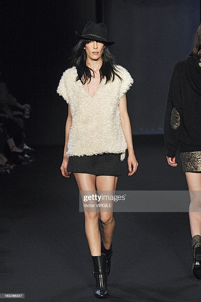 Jamie Bochert walks the runway during the Zadig & Voltaire Fall/Winter 2013 Ready-to-Wear show as part of Paris Fashion Week at Hotel Westin on March 5, 2013 in Paris, France.