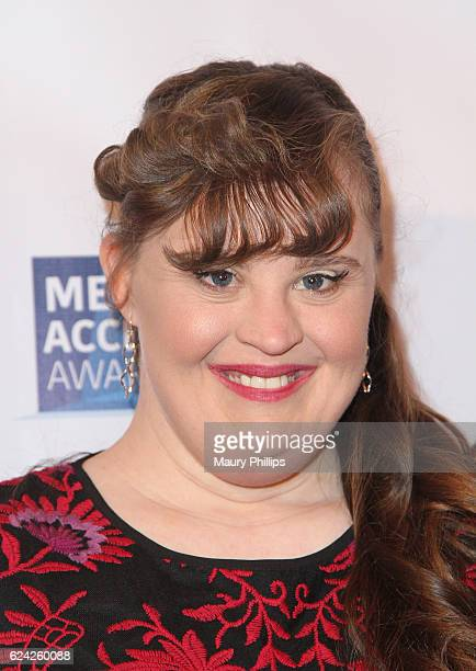 Jamie Brewer attends the 2016 Media Access Awards at Four Seasons Hotel Los Angeles in Beverly Hills on November 18 2016 in Los Angeles California